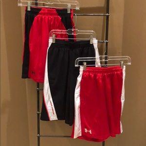 Three UA Athletic Shorts